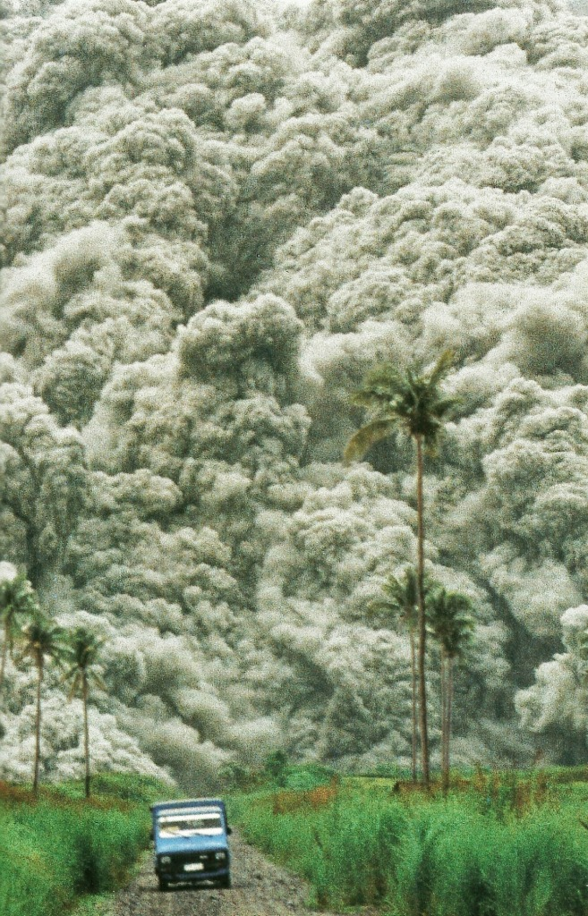 Roiling clouds of superheated ash surge from Mount Pinatubo in the Philippines National Geographic | December 1992